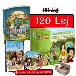 Székelyföldi Legendárium könyv+Kalandozzunk Székelyföldn társasjáték+Likaskő DVD-csomag